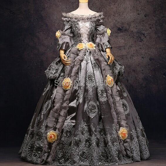 gris argent or luxe medieval renaissance robe reine robe victorienne le carnaval de venise. Black Bedroom Furniture Sets. Home Design Ideas