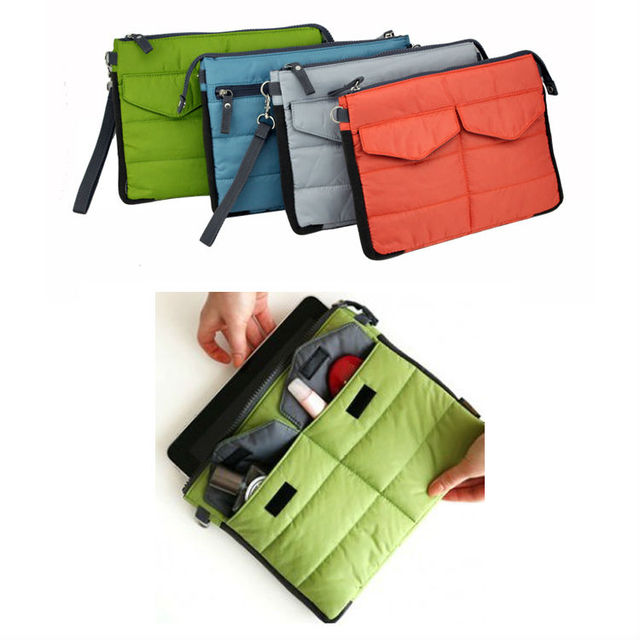 Free shipping Best Quality ipad case / notebook bag / Organizer bag with Pockets / Women Gadget Storage bag