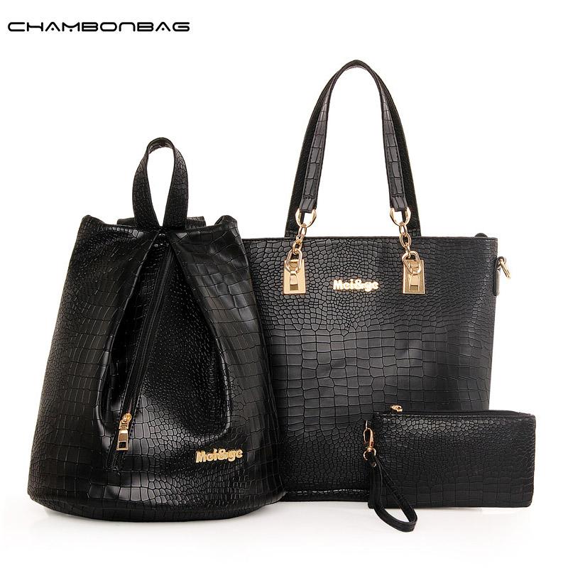 Bolsa Feminina New Brand Handbag Women Pink Tote bag Designer Handbags High Quality Back pack Shoulder Bag 3 Sets N226(China (Mainland))