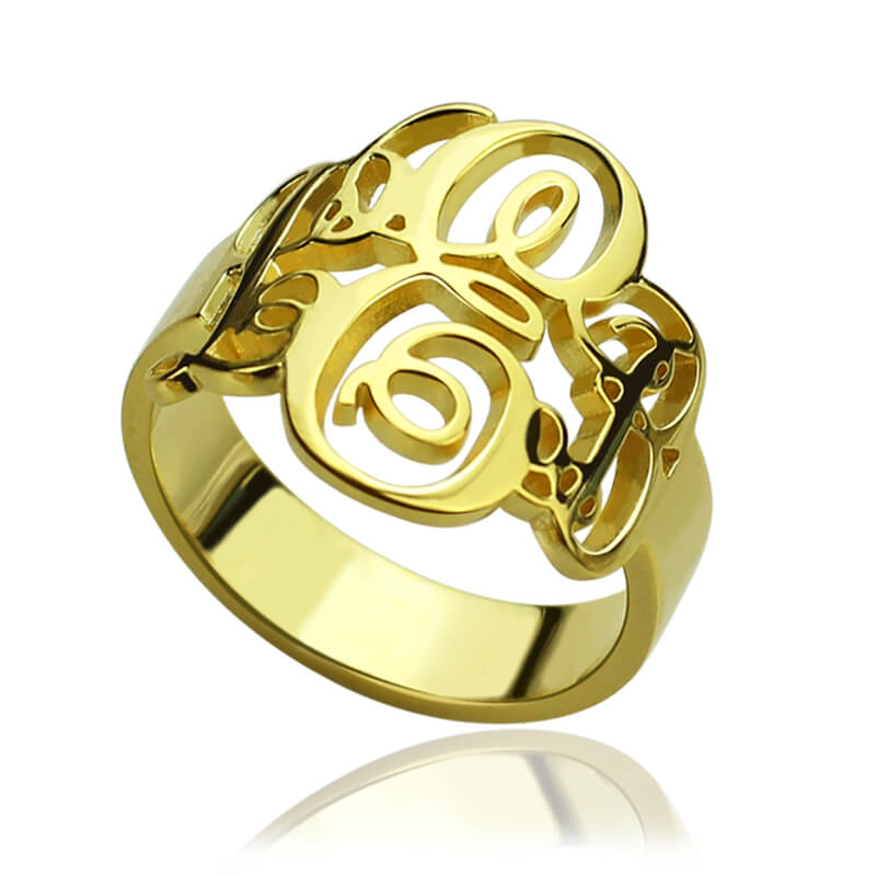buy wholesale monogram ring gold from china