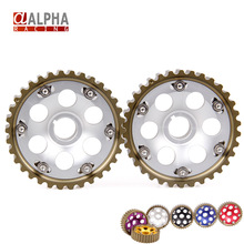 Alpha Racing-High Quality Adjustable Anodized CAM GEARS Pulley KIT B16 B18 B20 FOR HONDA CIVIC ACURA INTEGRA B-SERIES(China (Mainland))
