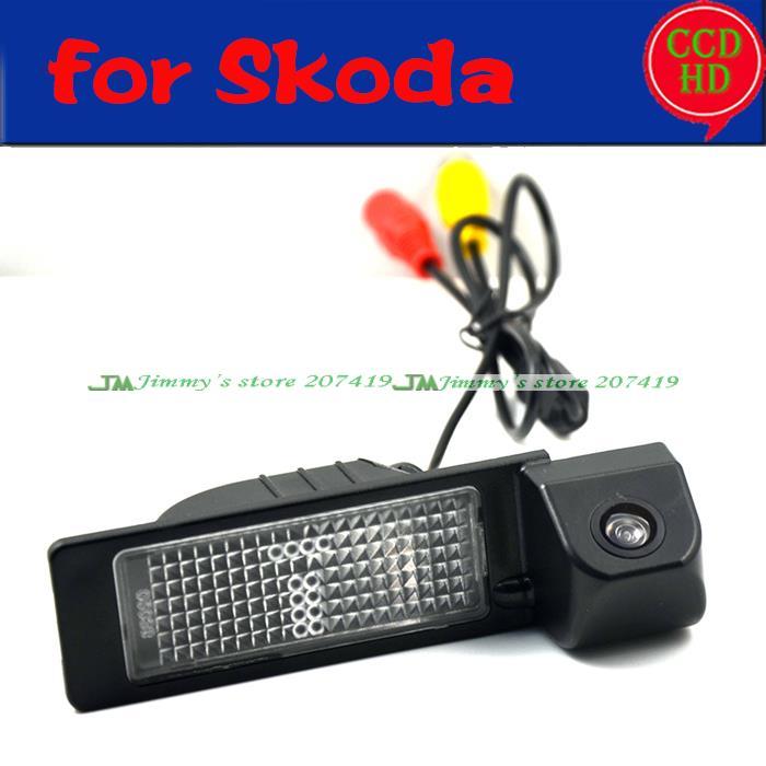 wire wireless car rear parking camera for sony ccd 2013 Skoda Rapid Skoda SANTANA revese backup camera night vision waterproof(China (Mainland))