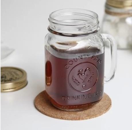 The rooster cup mason jars Mason jar of green glass(China (Mainland))