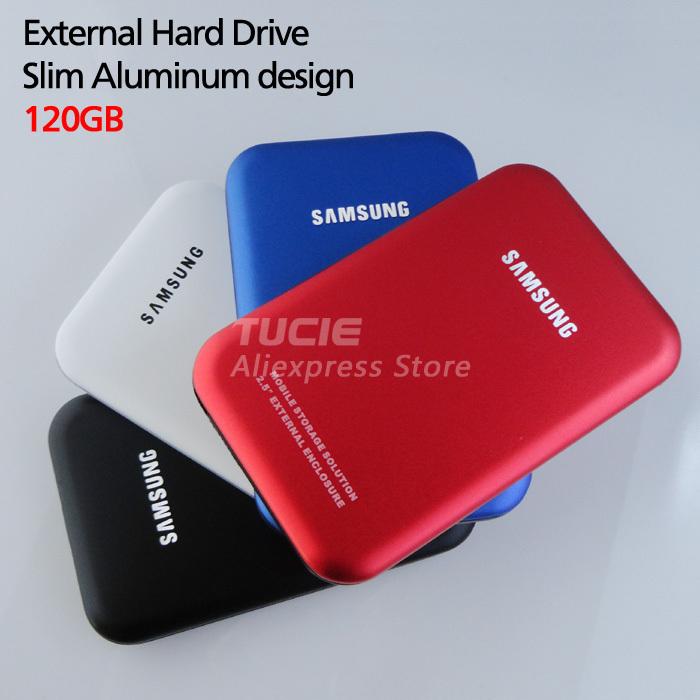 Slim Mobile HDD Portable Disk 120G 2.5'' USB2.0 Laptop&Desktop External Hard Drive Plug and Play 4 color choose(China (Mainland))