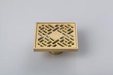 5404 Construction & Real Estate Fashion Ross Antique Brass Grate Floor Register Waste Drain 4″ x 4″ Flower Art Floor Drain