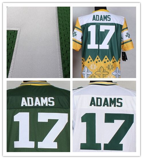 17 Davante Adam jersey Elite games custom Green Bay football jersey authentic Packers jerseys cheap rugby shirts Size 60 M-XXXL(China (Mainland))