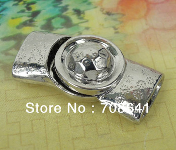 12x4mm Silver tone Bracelet Metal Magnet Magnetic Buckle Clasp Hooks Connector for Leather Cord Bracelets Bags Making Wholesale