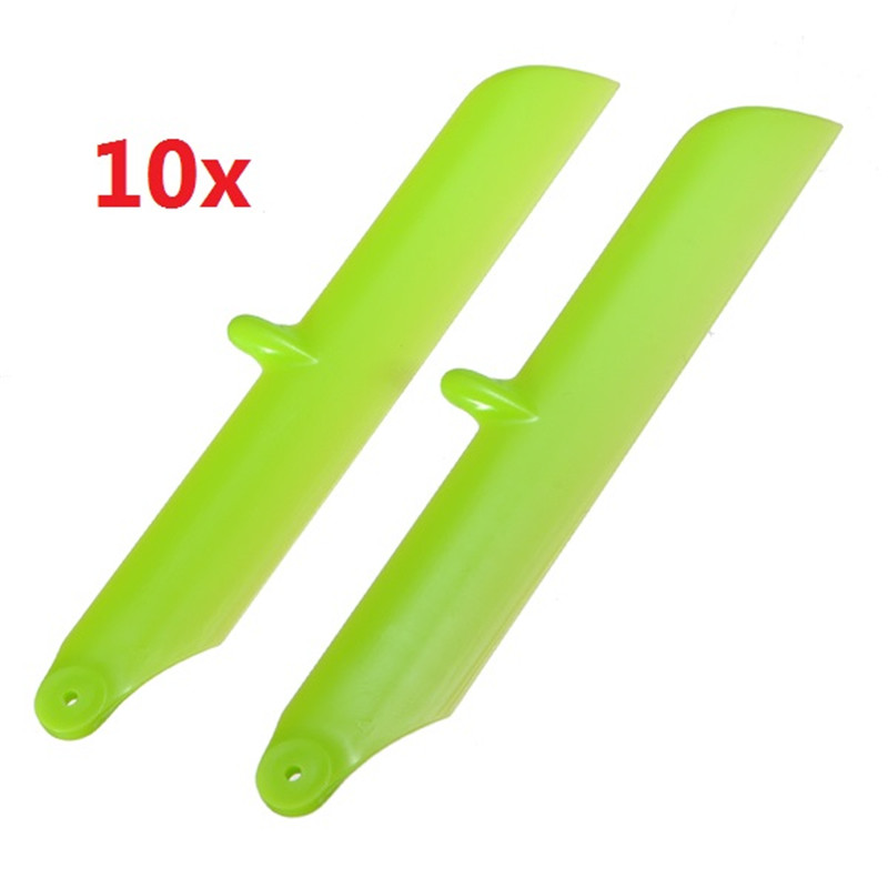 High Quality 10 Sets Hisky HCP100 HCP100S V922 Spare Parts Main Blades Green RC Propellers For RC Helicopter Part(China (Mainland))