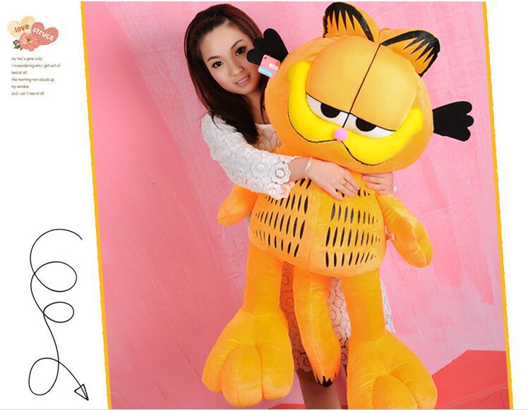 stuffed toy animation cartoon garfield plush toy, soft hugging pillow toy,high quality goods ,birthday gift d789(China (Mainland))