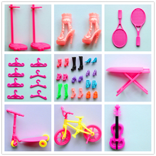 Retail Fashion Colorful Doll Accessory Commodity Shoes Heels Steady Bike Scooter Combo Dolls For Girl Baby birthday gift Toys(China (Mainland))