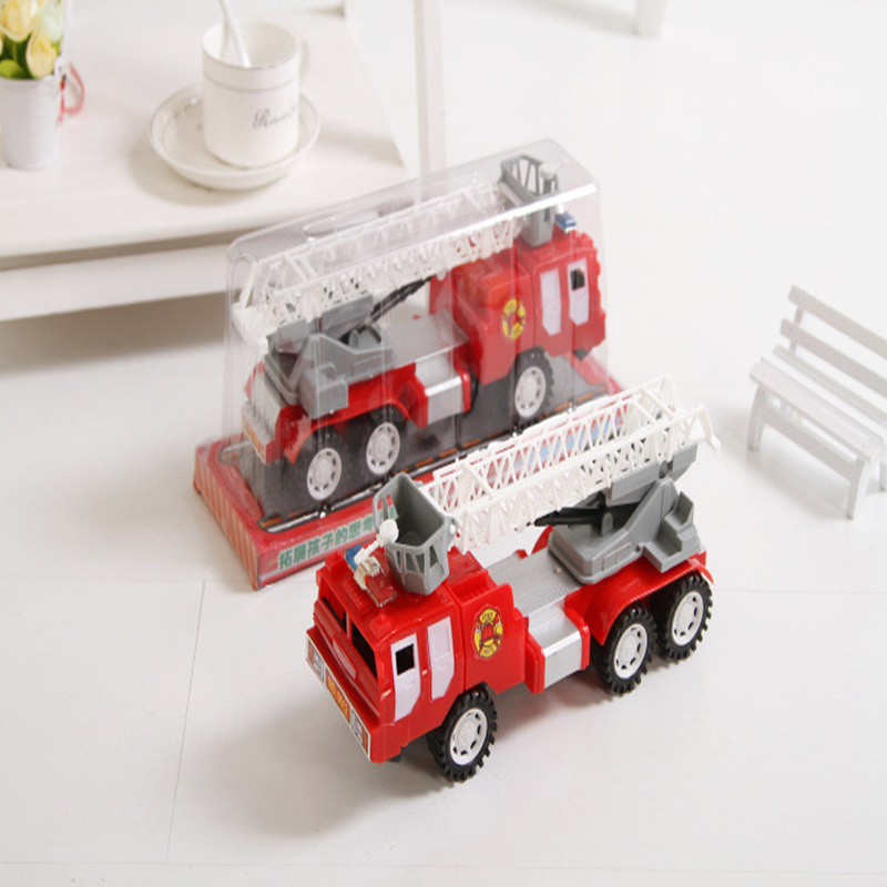 The new toy fire truck with a ladder large inertia can be rotated 360 degrees car factory direct brinquedo menino(China (Mainland))