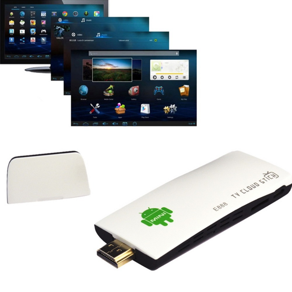 Hot  Smart tv player e888 mini pc tv dongle stick android 4.4 quad core rk3188t 2g/8 gb xbmc bluetooth dlna wifi tv stick Brand<br><br>Aliexpress