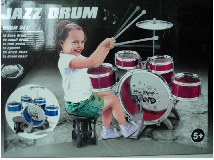 Hot sell ! Jazz drum set Children's musical Infant drum set toy kids Educational Instrumento Baby drum kit cymbals for girls boy(China (Mainland))