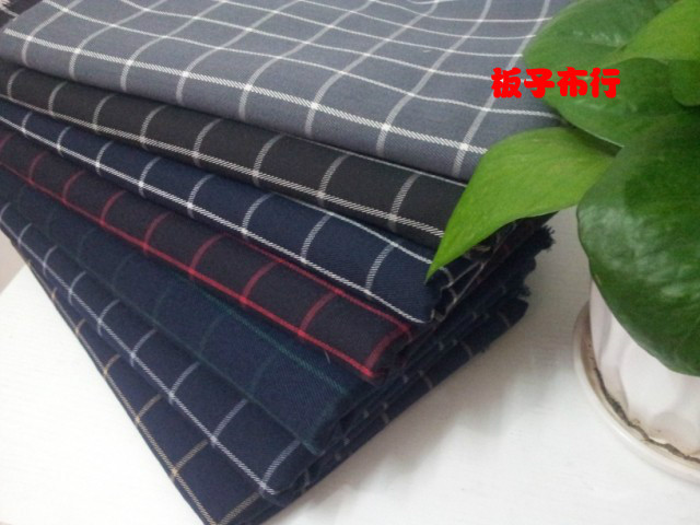 Pf30 Fall winter Cotton thick Plaid Grid fabric TR suit fabric shirt fabric retail or wholesale(China (Mainland))