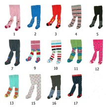 New fashion infant girls and boys flower print leggings kids pantyhose children cotton tights for girls newborn baby clothes