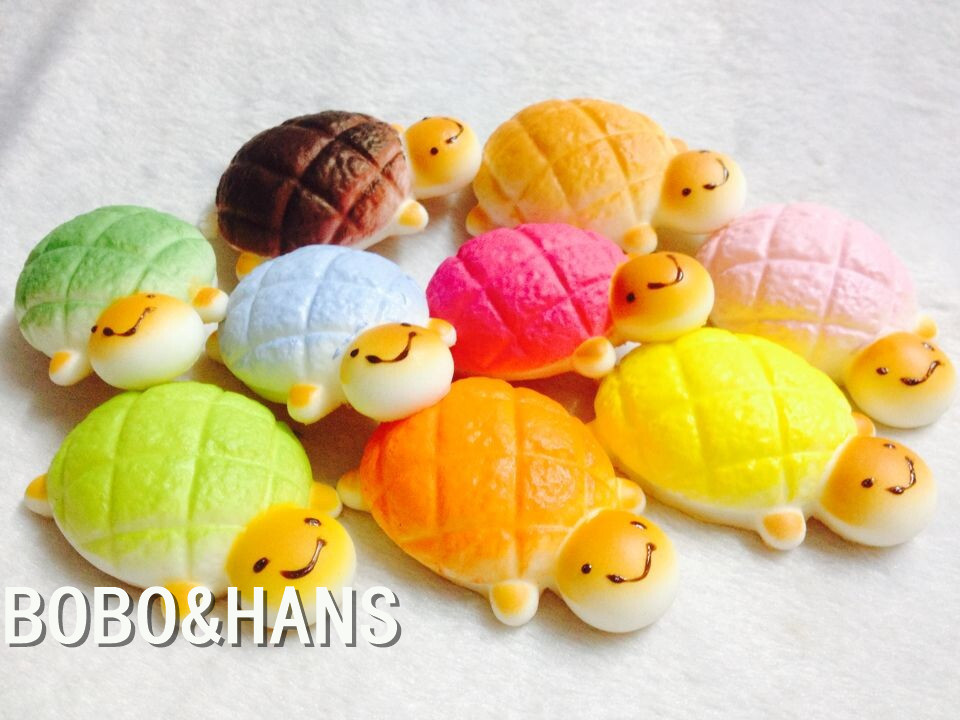 New Cute Candy Colors Cartoon Tortoise tutle squishy charm / mobile phone strap / Wholesale(China (Mainland))
