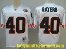 Stitiched,Chicago Bear,Jim McMahon,William Perry,Walter Payton,Dick Butkus,Gale Sayers,Mike Singletary,Throwback for men(China (Mainland))
