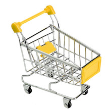 Mini Supermarket Handcart Shopping Utility Cart Mode Storage Toy Red New Free shipping(China (Mainland))