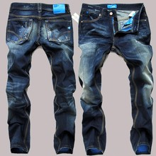 New Denim Jeans Mens Famous Brand Ripped Jeans For Men Biker Jeans High Quality Cotton Designer Trousers For Man Size 38 40