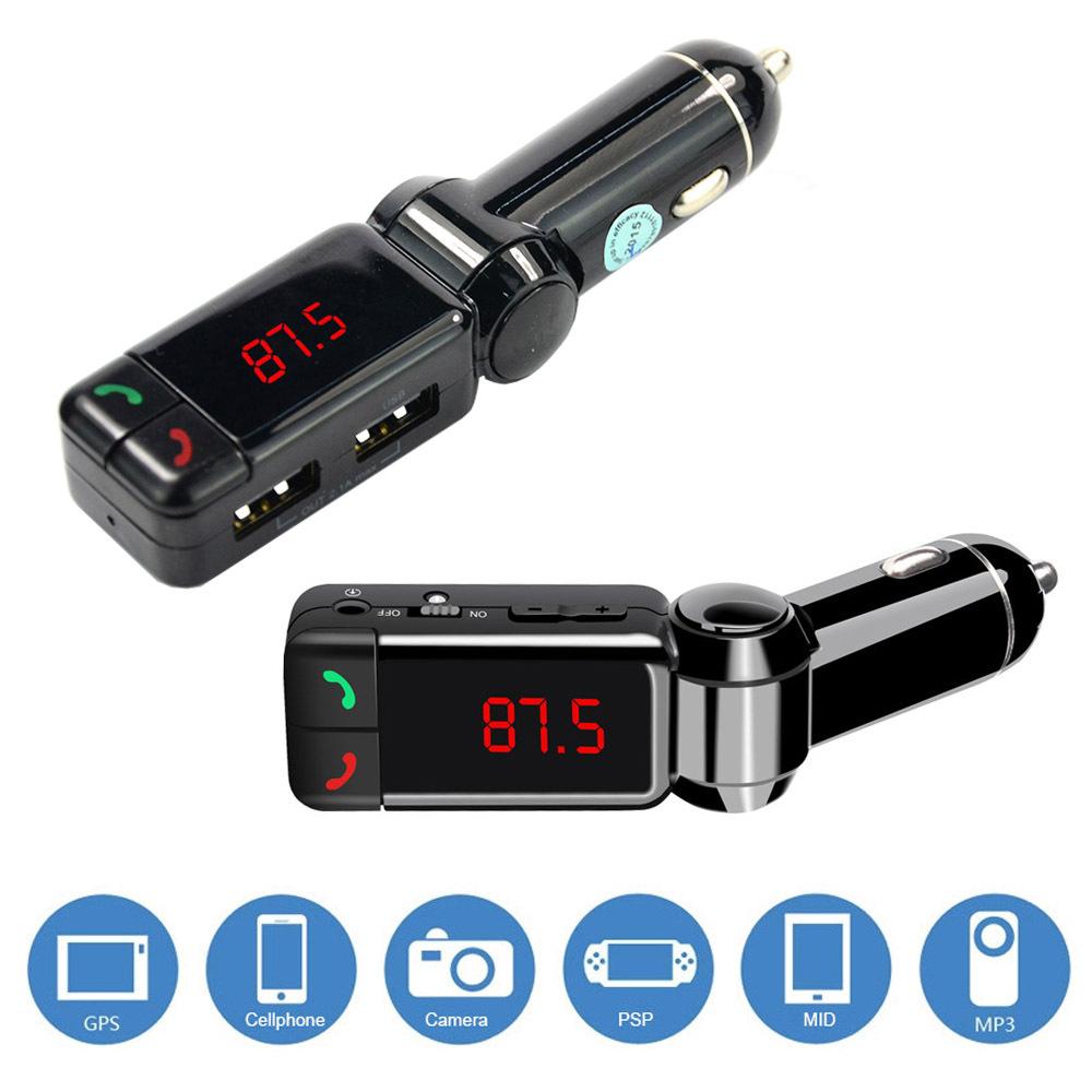 Mini Wireless Handsfree Car Light Slot LCD Bluetooth Car Kit Music Mp3 Player FM Transmitter USB Charger 5V/2.1A(China (Mainland))