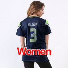 cheap hot Women's #25 Richard Sherman #31 Kam Chancellor #3 Russell Wilson Stitched Logos Ladies Light Blue Game Free shipping(China (Mainland))