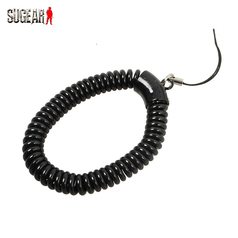 Tactical Retractable Plastic Spring Elastic Rope Security Anti-Lost Gear Tool For Airsoft Outdoor Hiking Camping Flashlight Key(China (Mainland))