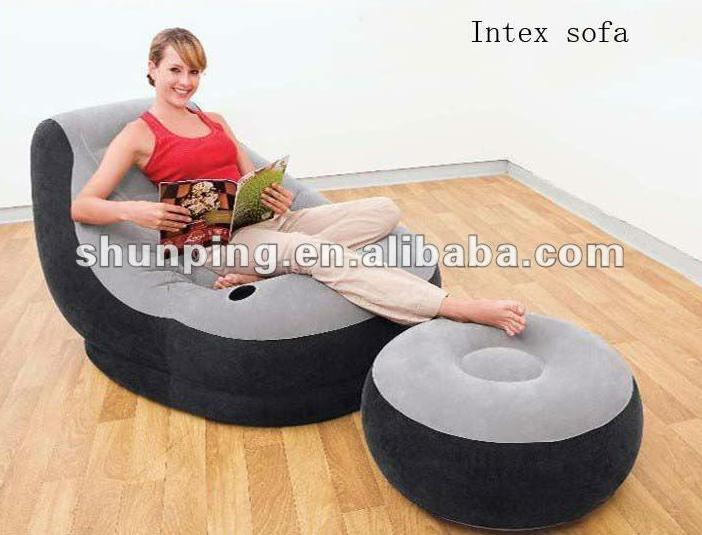 Inflatable sofa with footrest set intex 68564 in living room sets from