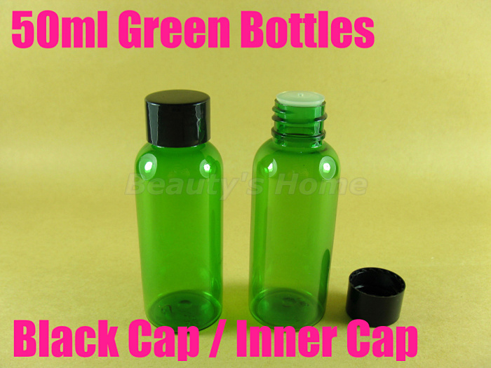 50ml screw cap Green bottle comestic make container small/empty bottles #2073 - Packing Supplier(Bottles and Jars store)