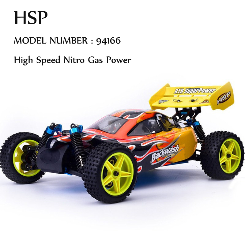 HSP Rc Car 1/10 Nitro Power Off Road Buggy 4wd Remote Control Car 94166 Backwash Two Speed High Speed Hobby Similar REDCAT(China (Mainland))