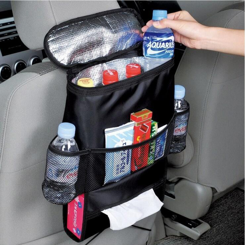 Universal Car Seat Back Bag Organizer Insulated Food Storage Container Basket Stowing Tidying Bags Car Hanging Storage Bag(China (Mainland))