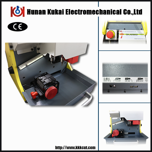 China hottest SEC-E9 automatic used duplicate car key code cutting machine Free upgrade (Spanish version) with CE certificate(China (Mainland))