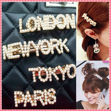 Fashion Hair Accessories women's Hairpins City Pearl Design hairgrips girl's sweet hair jewelry Barrettes bobby pin Tokyo #JH012(China (Mainland))