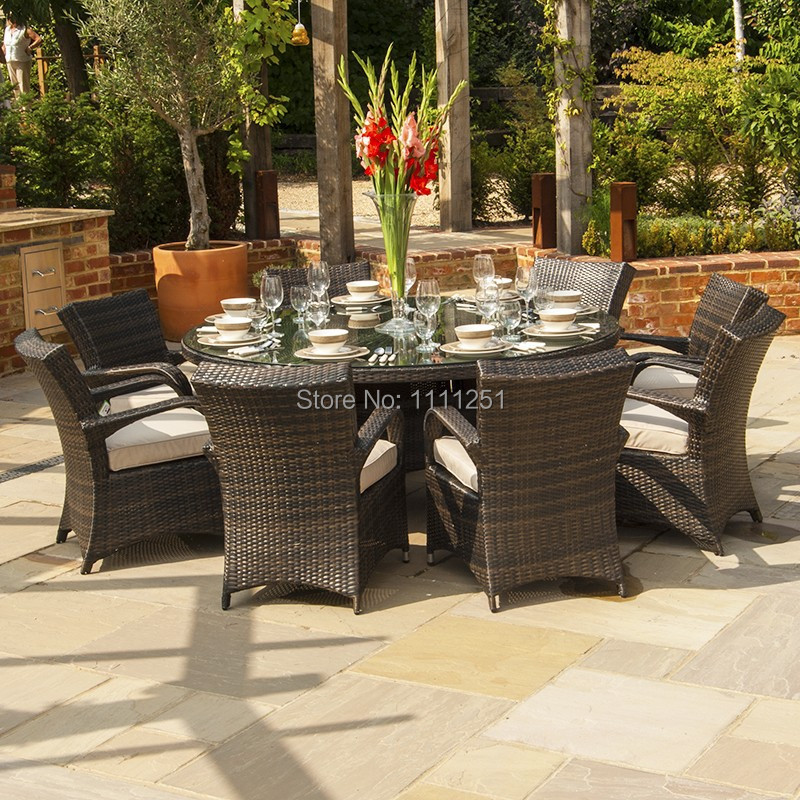 2014 HOT NEW Beaumont Round Rattan Dining Set 10 Seater in