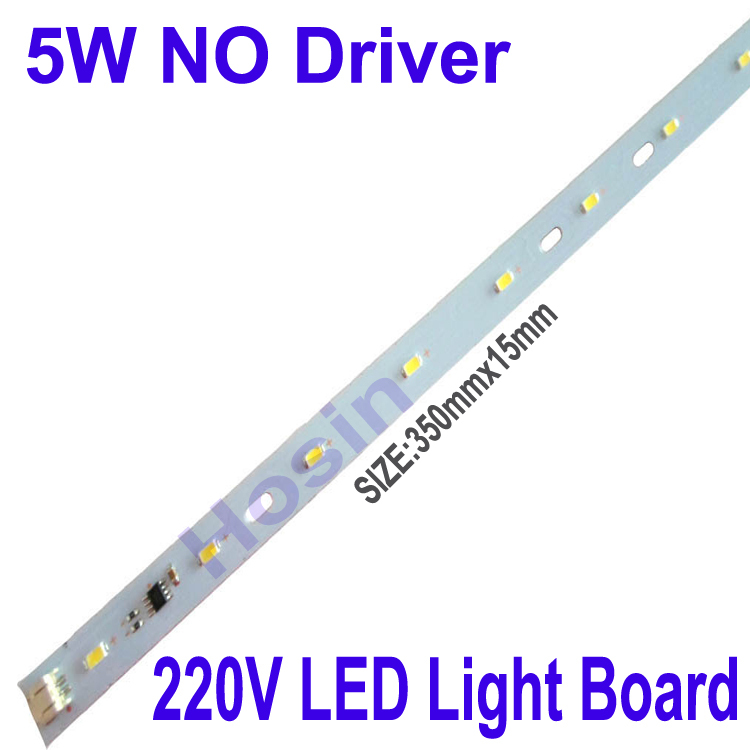 SMD5730 LED Light Board 220V LED Strip no driver DIY LED Light 5W 6W 10W White Warm White For Table lamp Nightlights 10pcs/lot(China (Mainland))