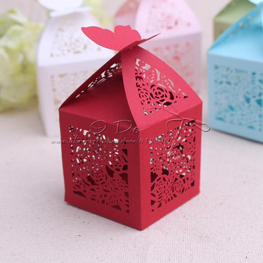 Wedding Favor Boxes For Chocolates : Pattern Wedding Favor Boxes Wedding Candy Box Casamento Wedding Favors ...