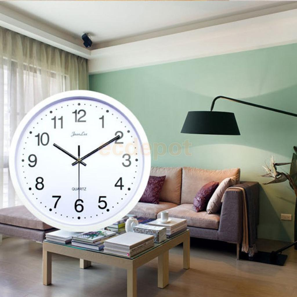 Round WALL CLOCKS For Home, Dining Room, Kitchen, Quartz Battery Operated