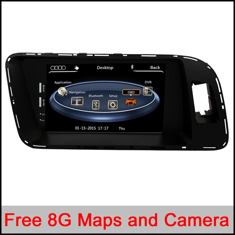 Auto Multimedia Car DVD Player for Audi Q5 A4 A5 with GPS Navigation Radio TV BT USB SD AUX Map Audio Video Stereo Free maps(China (Mainland))