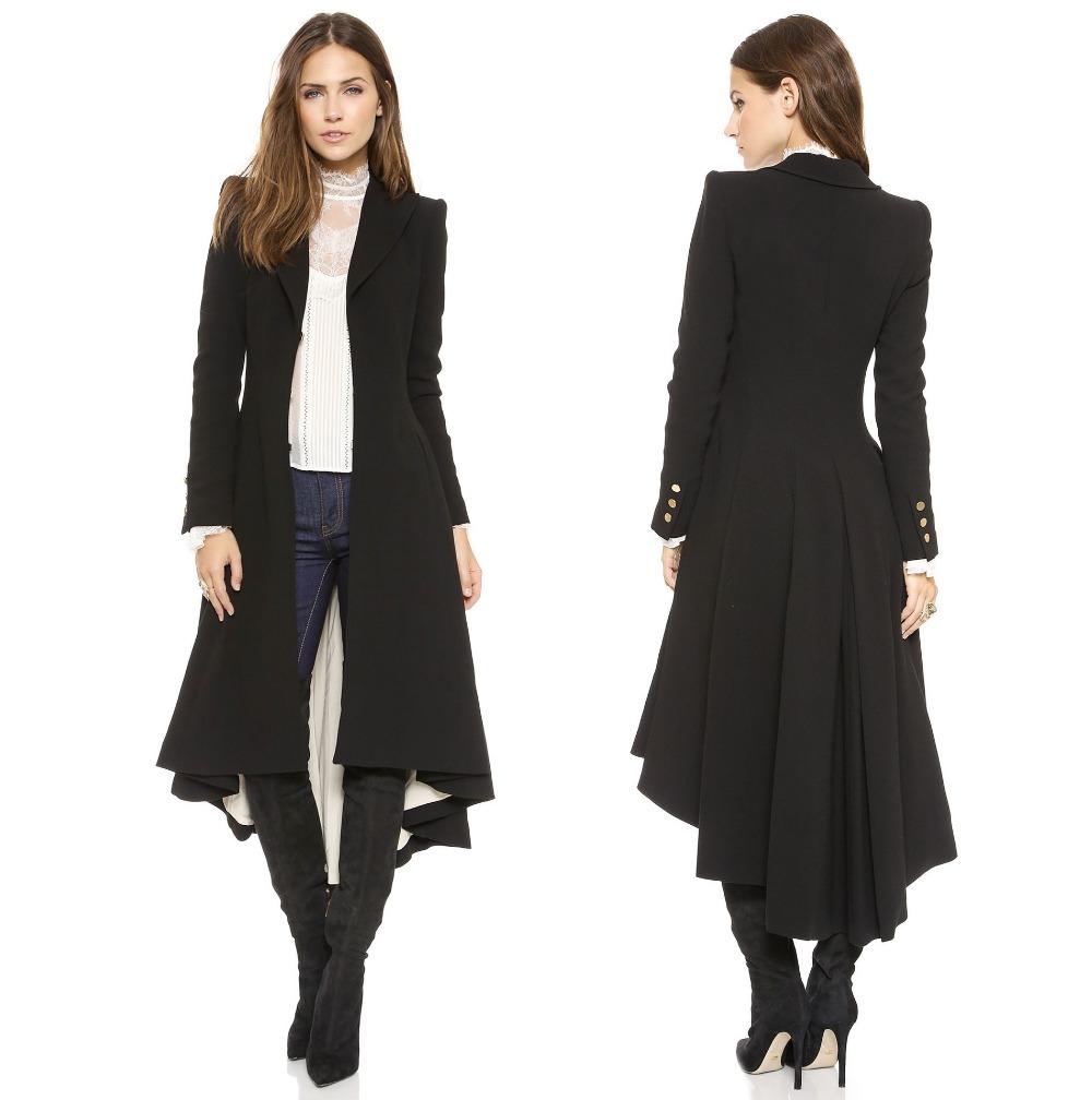 Womens Navy Wool Coat