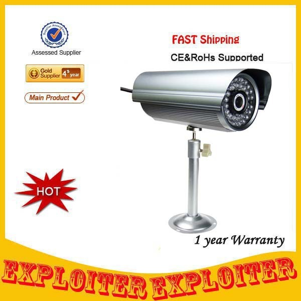H.264 300K Pixel Color CCD Waterproof IP CCTV Wired Camera with 36-IR LED Night-Vision,Free Shipping