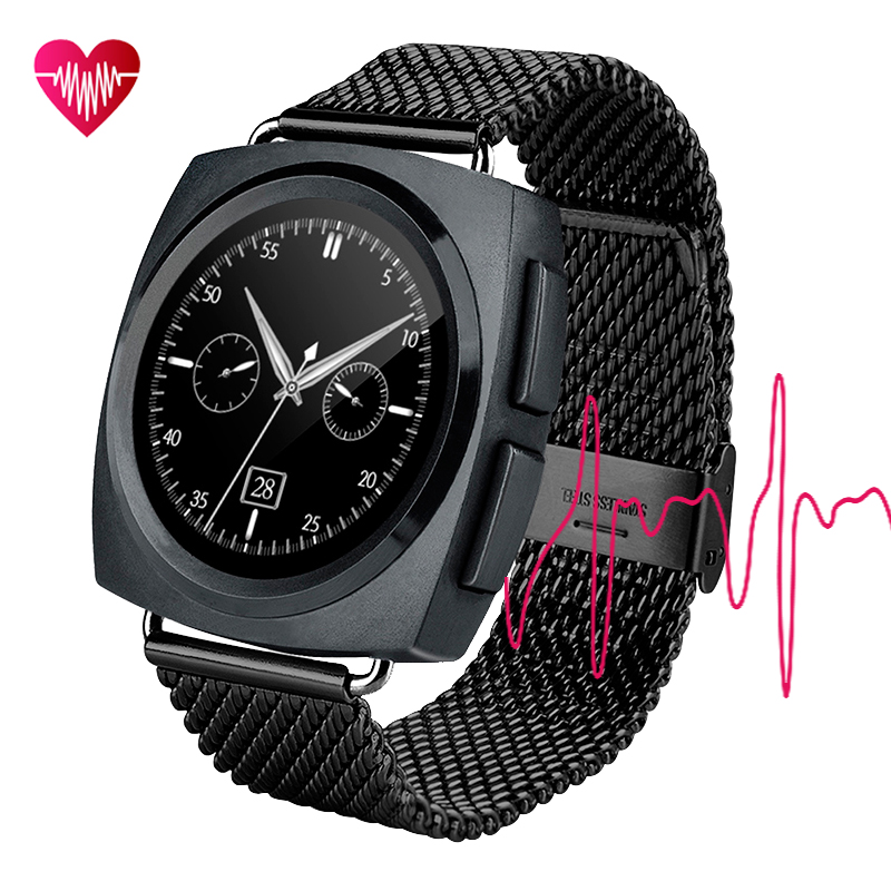 Bluetooth smart watch phone HD touch screen build in QR Code pedometer heart rate monitoring smartwatch for IOS and Android N040(China (Mainland))