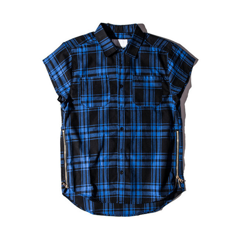 Online buy wholesale plaid sleeveless shirt from china for Buy plaid shirts online