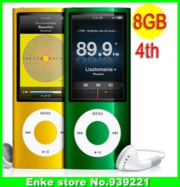 Ultra-Thin & Slim 8GB Mp3 Music Player with Function of Mp 4 and Mp5 LCD Screen, FM Radio, Games & Movie Player With Free Gift(China (Mainland))