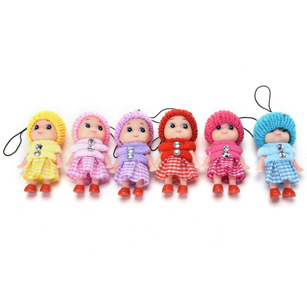 1pcs 8cm Cartoon Movie Plush Dolls Pendant For Mobile phone Straps random Color(China (Mainland))