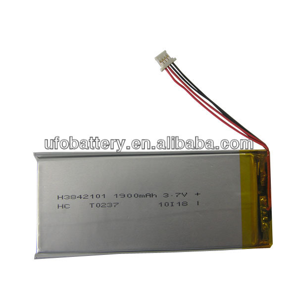 shenzhen manufacture lithium polymer battery 3.7v 2000mah rechargeable battery pack for GPS, laptop(China (Mainland))