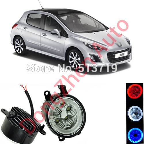 2015 new auto accessories car LED front fog lights strobe line group For Peugeot 308 2011-2013 car styling parking<br><br>Aliexpress