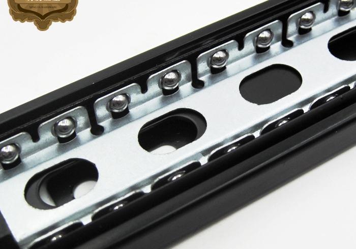 Furniture drawer slide rail track three thick black computer keyboard accessories(China (Mainland))