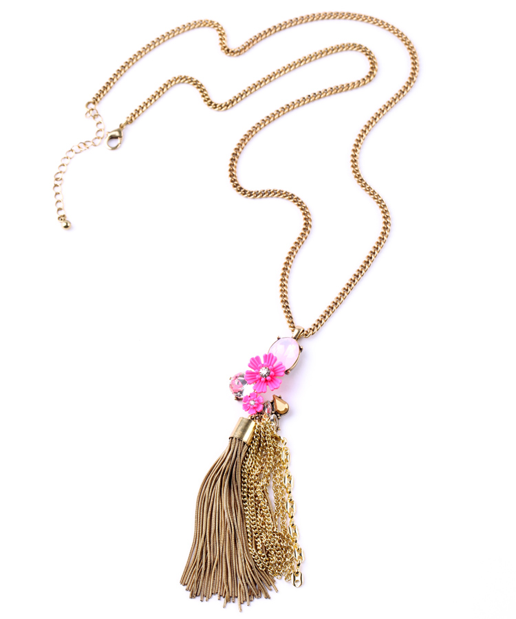 2015 Special Offer Real Women Zinc Link Chain Collar Statement Necklace Collier Retro Flower Tassels Female Money ChainXl00785a(China (Mainland))