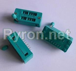 10PCS IC Test Universal ZIF Socket 14pin 14 pin dip 2.54mm IC Socket pitch(China (Mainland))