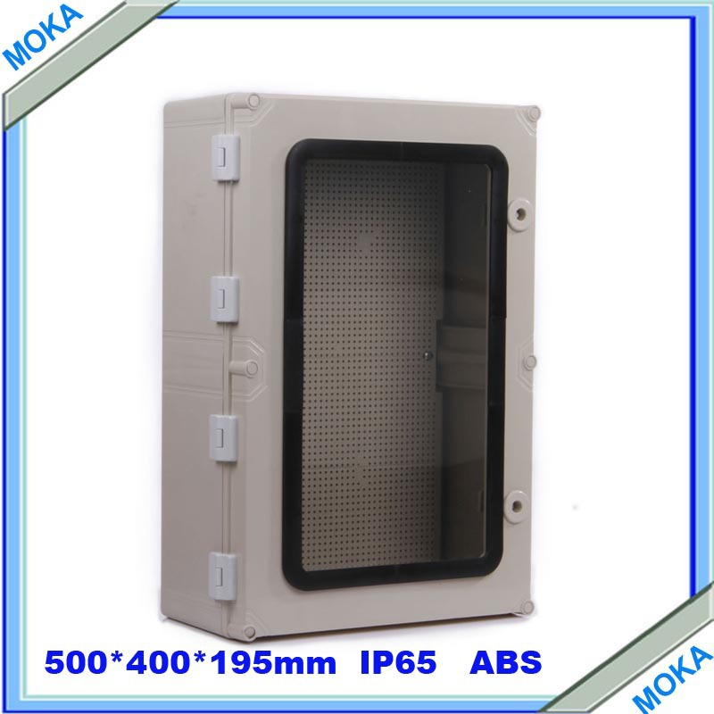 Quality Product ABS Material Transparent Cover IP65 Standard waterproof enclosure boxes 500*400*195mm(China (Mainland))