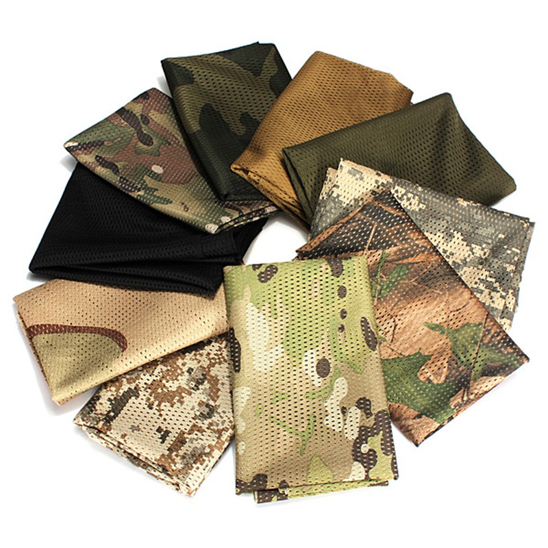 Versatile Tactical Military Fishing Hunting cycling bike Mesh Sniper Cover Head Scarf Veil Face Mesh Army shawl Wrap Neckerchief(China (Mainland))